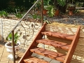 Wrought iron balustrade with leaves