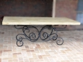 Wrougth iron dining table