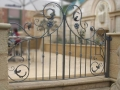 Topiary cafe, small wrought iron gates