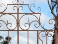 Wrought iron gate top detail