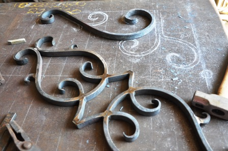 Wrought iron gate centrepiece