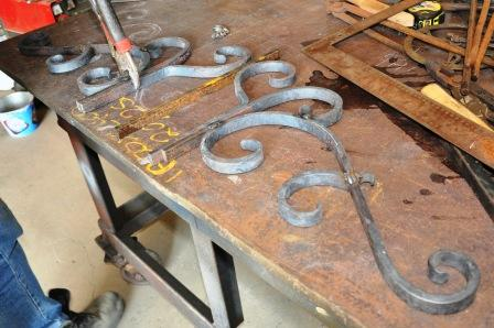 Scrolls for wrought iron gate top