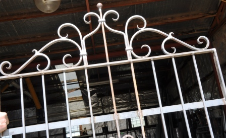 French Provincial Wrought iron gate top