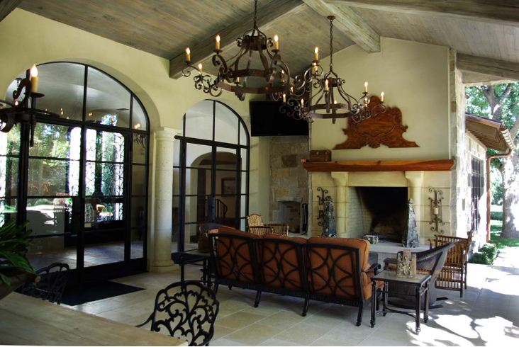 Room with wrought iron features