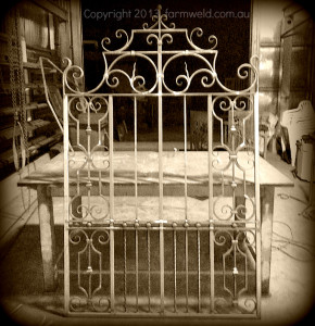 Traditional gate design made with traditional and modern methods,