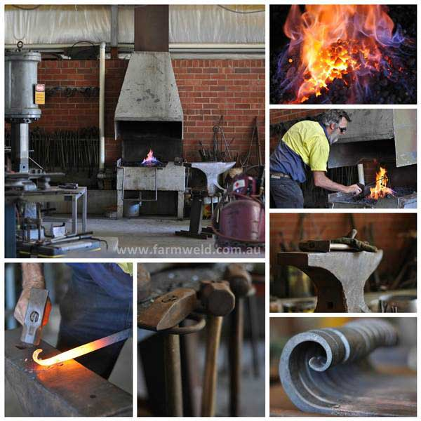 Farmweld forge, blacksmith at work