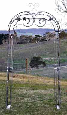 custom wrought iron arbour