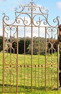 Traditional wrought iron courtyard gate