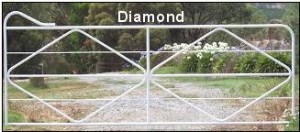 Diamond bar gate