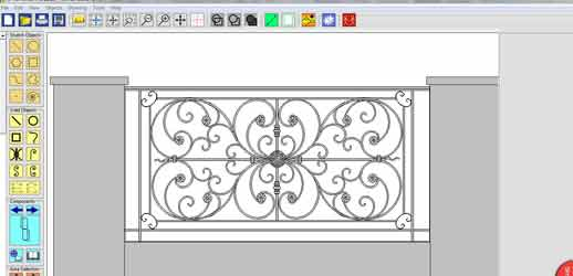 Ornamental wrought iron balustrade design