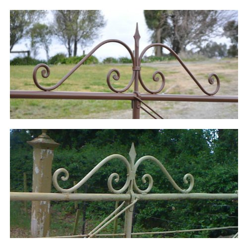 Hand forged scrollwork