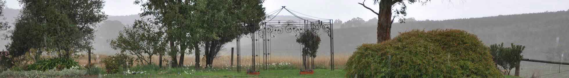 gazebo in country garden
