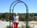 Brigadoon retreat garden arch