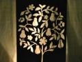 Pear topiary metal art
