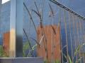 Wrougth iron Bullrush fence panel