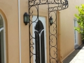 Wrought iron door canopy