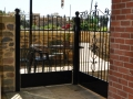 Wrought iron patio gates & fence panel
