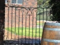 Single side gate with blind panel