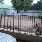 wrought iron fence panel