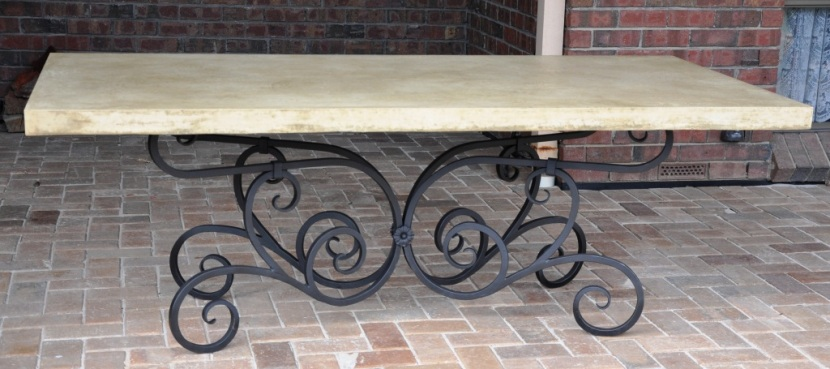 hand forged wrought iron table base