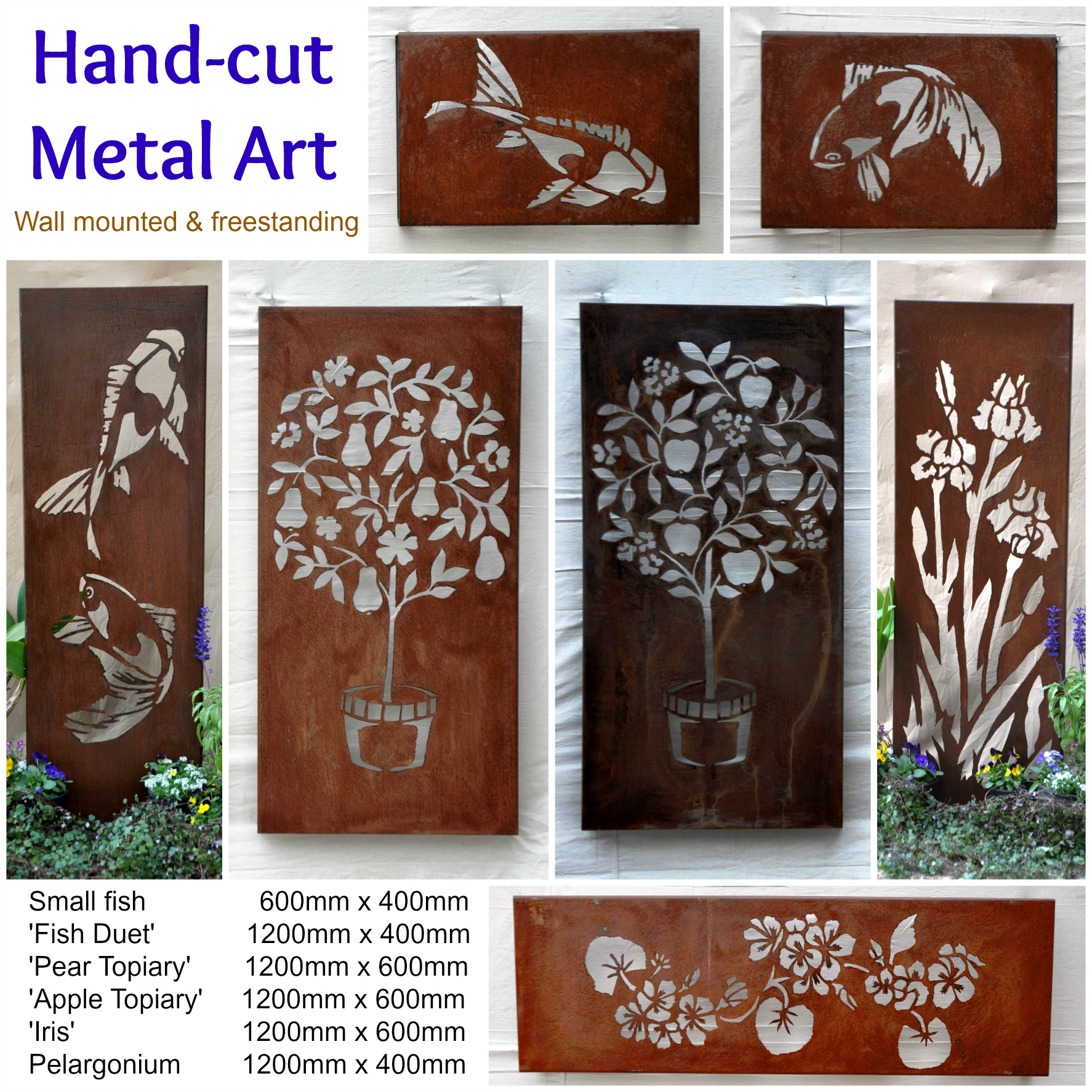 Unique hand cut metal art
