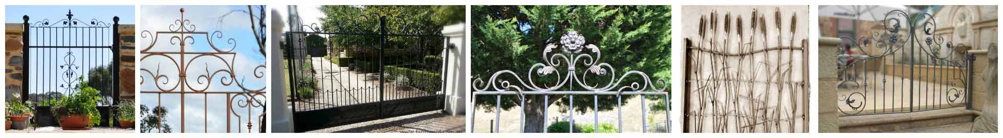 Wrought iron gates, blacksmithed in the Adelaide Hills by Farmweld